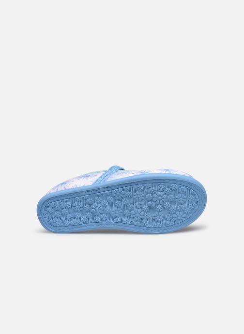 Chaussons Frozen Sadou Bleu vue haut