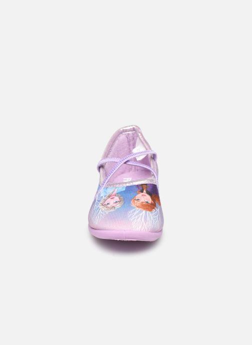 Chaussons Frozen Sadou Violet vue portées chaussures