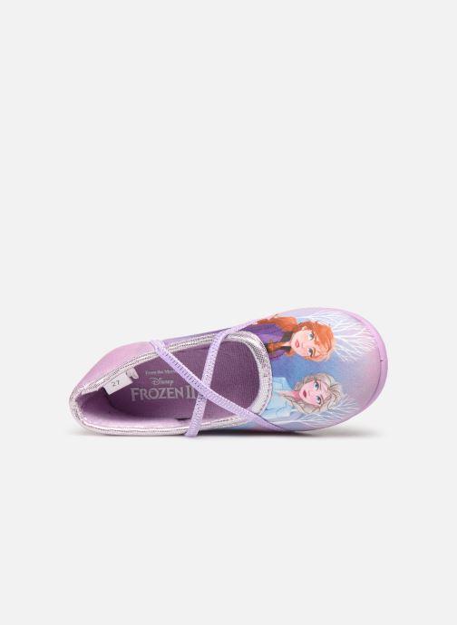 Chaussons Frozen Sadou Violet vue gauche