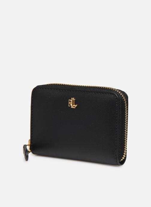 Petite Maroquinerie Lauren Ralph Lauren SM ZIP WALLET SMALL Noir vue portées chaussures