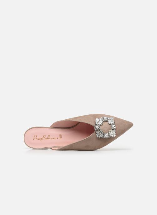 Zoccoli Pretty Ballerinas 48481 Beige immagine sinistra