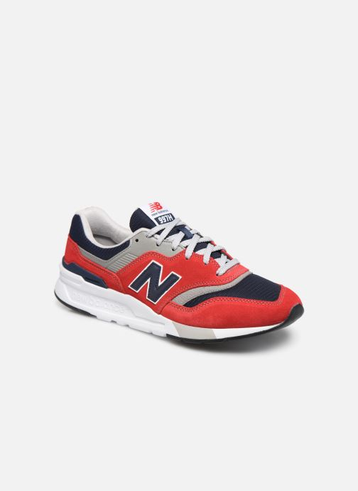 Baskets New Balance CM997 Rouge vue détail/paire