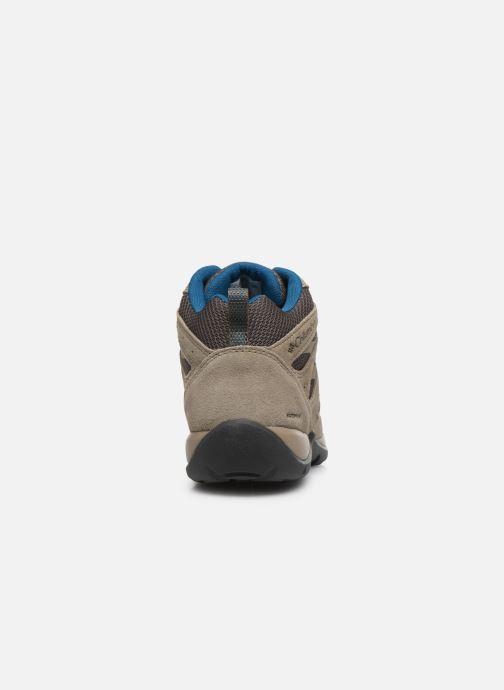 Chaussures de sport Columbia Redmond V2 Mid Waterproof Beige vue droite