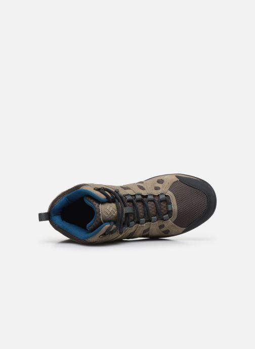 Chaussures de sport Columbia Redmond V2 Mid Waterproof Beige vue gauche
