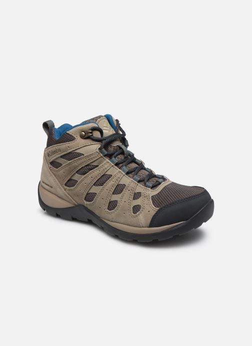 Chaussures de sport Columbia Redmond V2 Mid Waterproof Beige vue détail/paire