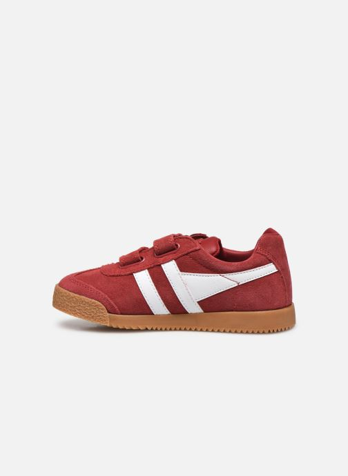 Baskets Gola Harrier Velcro Rouge vue face