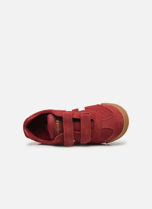 Baskets Gola Harrier Velcro Rouge vue gauche