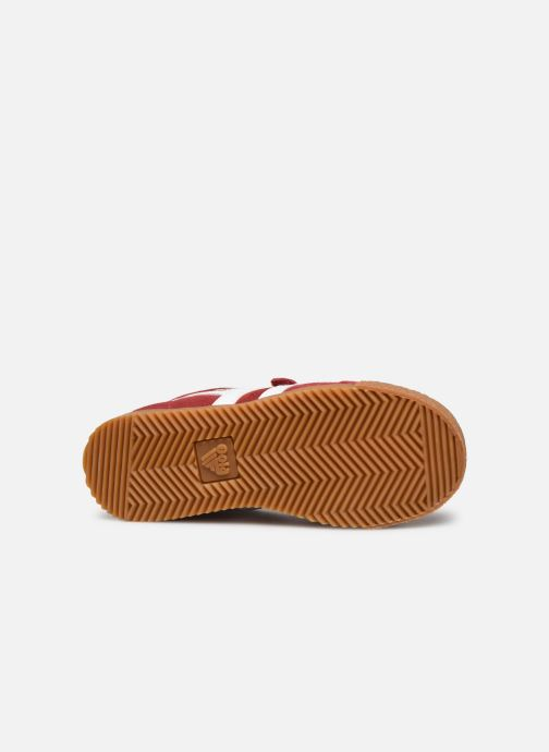 Baskets Gola Harrier Velcro Rouge vue haut