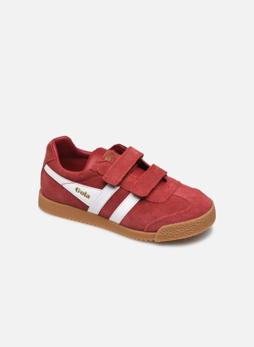 Baskets Gola Harrier Velcro Rouge vue détail/paire