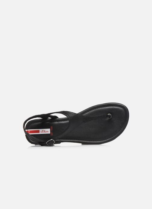 Sandales et nu-pieds S.Oliver SIDEL Noir vue gauche