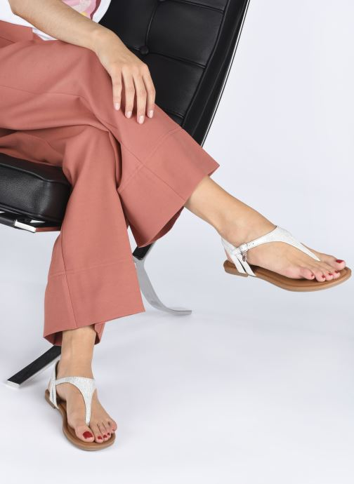 Sandales et nu-pieds S.Oliver SIDEL Argent vue bas / vue portée sac