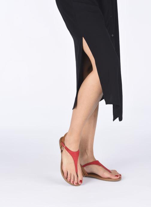 Sandales et nu-pieds S.Oliver SELMA Rouge vue bas / vue portée sac