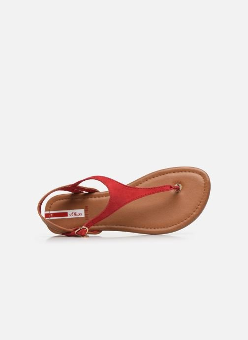 Sandales et nu-pieds S.Oliver SELMA Rouge vue gauche