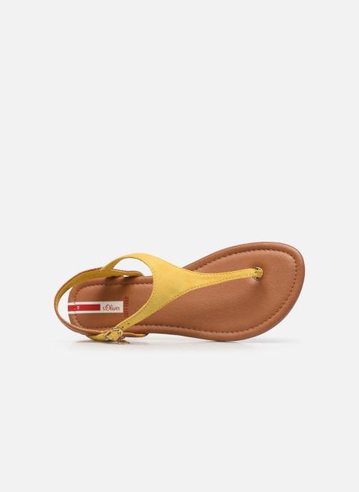 Sandales et nu-pieds S.Oliver SELMA Jaune vue gauche