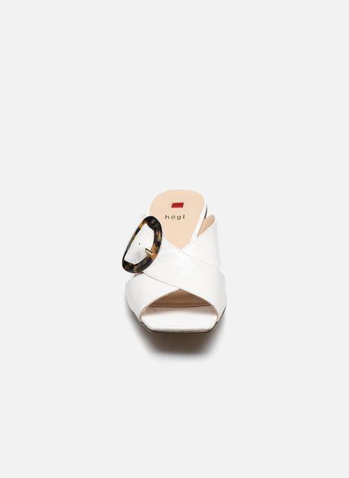 Mules et sabots HÖGL Aria Blanc vue portées chaussures