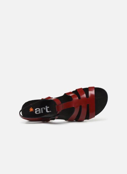 Sandales et nu-pieds Art Creta 1256 Rouge vue gauche