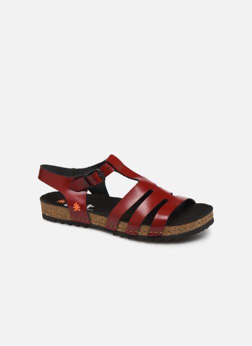 Sandales et nu-pieds Art Creta 1256 Rouge vue détail/paire