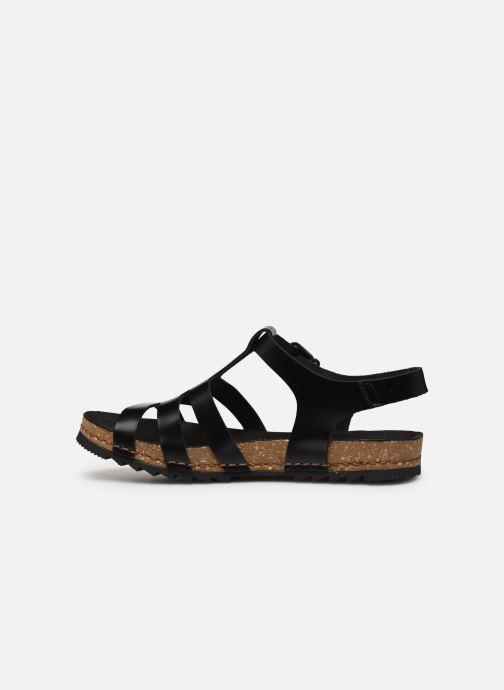 Sandales et nu-pieds Art Creta 1256 Noir vue face