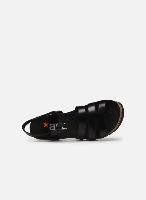 Sandales et nu-pieds Art Creta 1256 Noir vue gauche