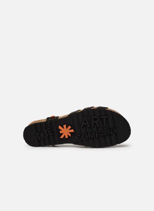 Sandales et nu-pieds Art Creta 1256 Noir vue haut
