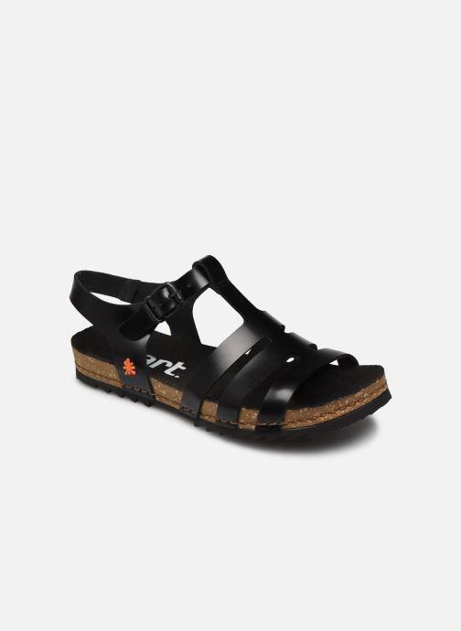 Sandales et nu-pieds Art Creta 1256 Noir vue détail/paire