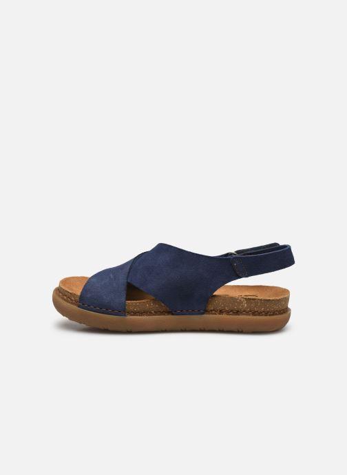 Sandales et nu-pieds Art Rhodes 1710 Bleu vue face