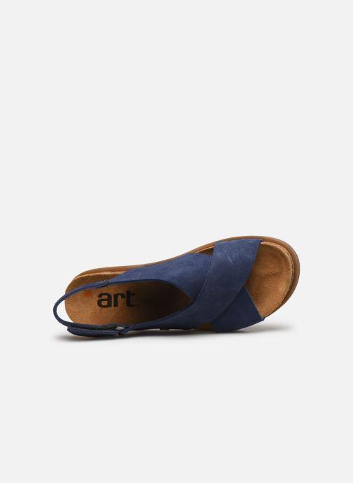 Sandales et nu-pieds Art Rhodes 1710 Bleu vue gauche