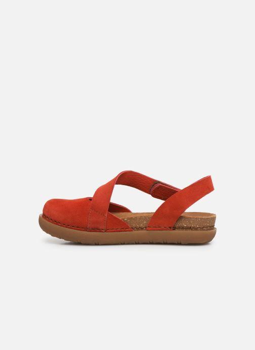 Sandales et nu-pieds Art Rhodes 1712 Orange vue face