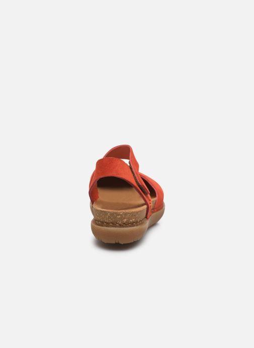 Sandales et nu-pieds Art Rhodes 1712 Orange vue droite