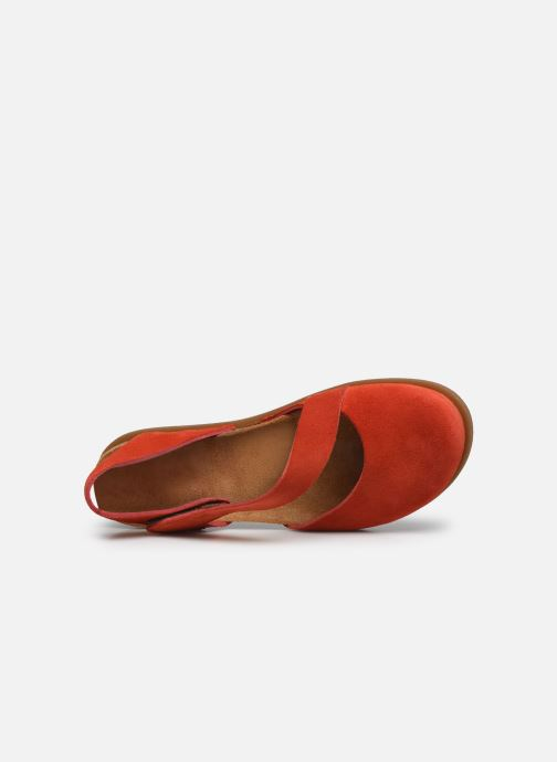 Sandales et nu-pieds Art Rhodes 1712 Orange vue gauche