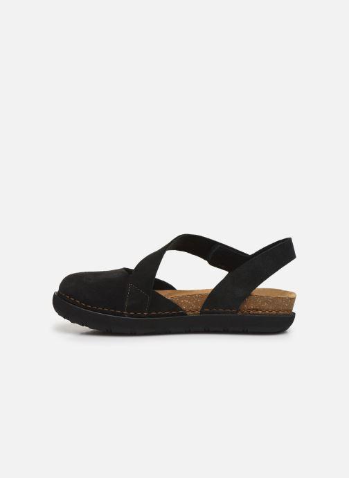 Sandales et nu-pieds Art Rhodes 1712 Noir vue face