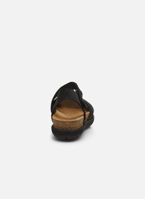 Sandales et nu-pieds Art Rhodes 1712 Noir vue droite