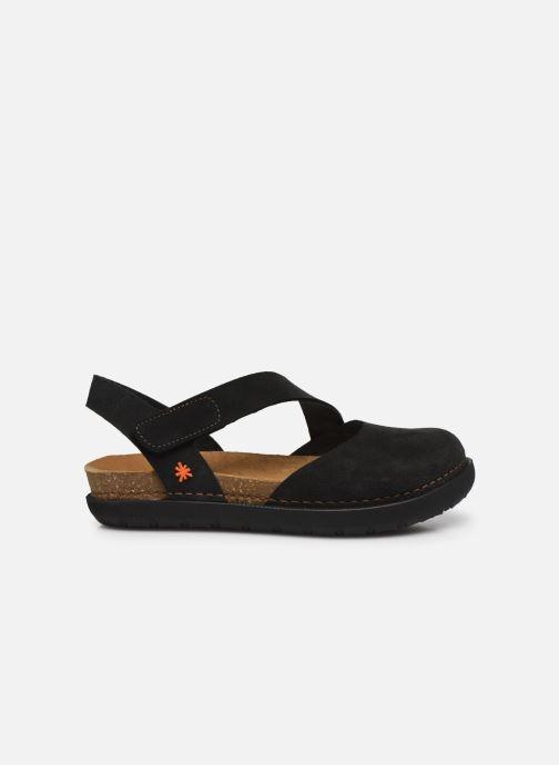 Sandales et nu-pieds Art Rhodes 1712 Noir vue derrière