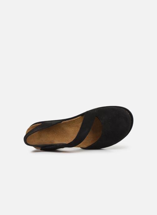 Sandales et nu-pieds Art Rhodes 1712 Noir vue gauche