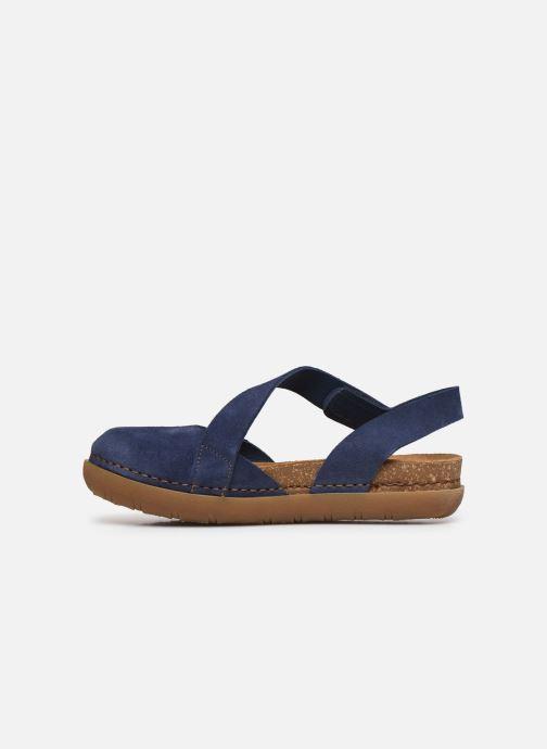 Sandales et nu-pieds Art Rhodes 1712 Bleu vue face