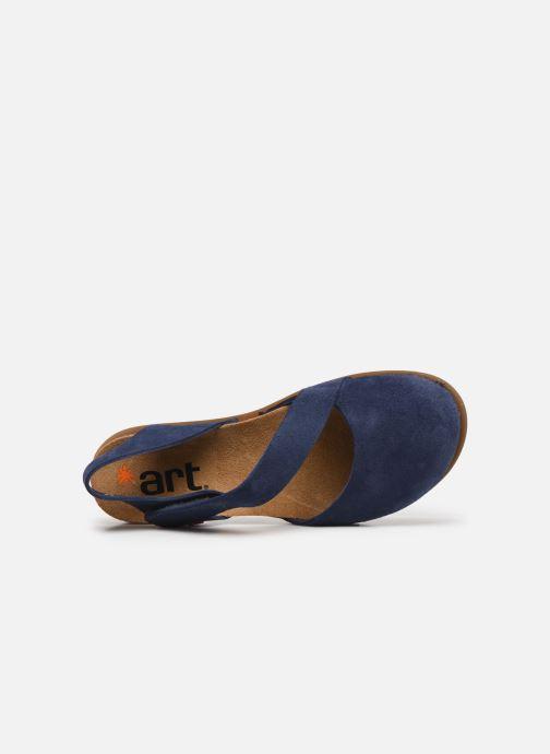 Sandales et nu-pieds Art Rhodes 1712 Bleu vue gauche