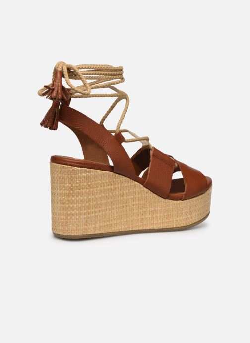 Sandali e scarpe aperte Made by SARENZA South Village Sandales Plates #3 Marrone immagine frontale