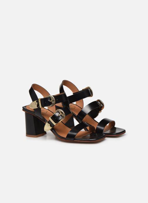Sandali e scarpe aperte Made by SARENZA Summer Folk Sandales à Talons 1 Nero immagine posteriore