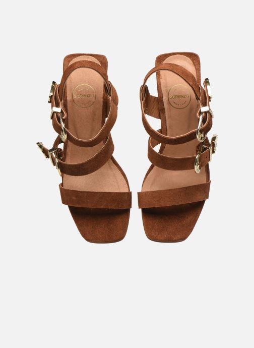 Sandalen Made by SARENZA Summer Folk Sandales à Talons 1 Bruin model