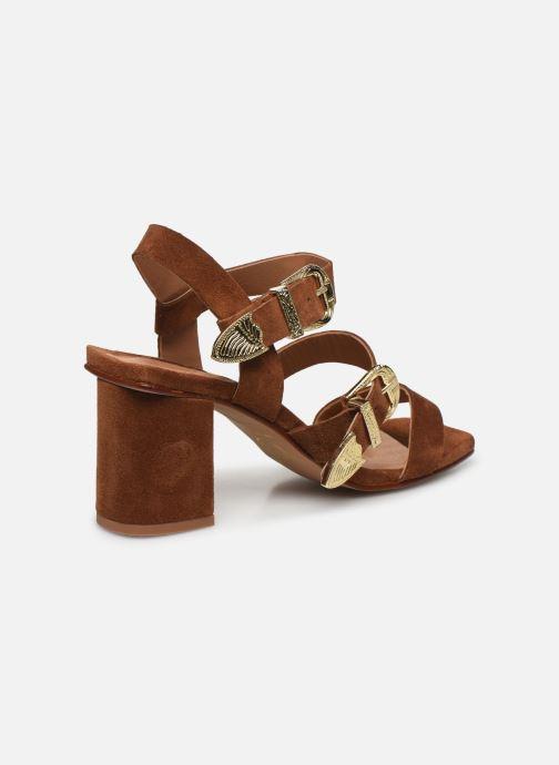 Sandalen Made by SARENZA Summer Folk Sandales à Talons 1 Bruin voorkant