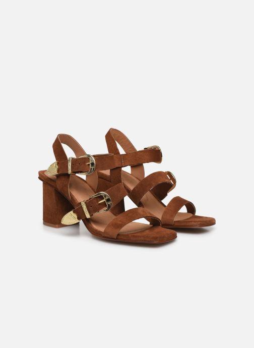 Sandalen Made by SARENZA Summer Folk Sandales à Talons 1 Bruin achterkant