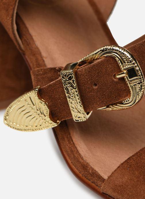 Sandalen Made by SARENZA Summer Folk Sandales à Talons 1 Bruin links