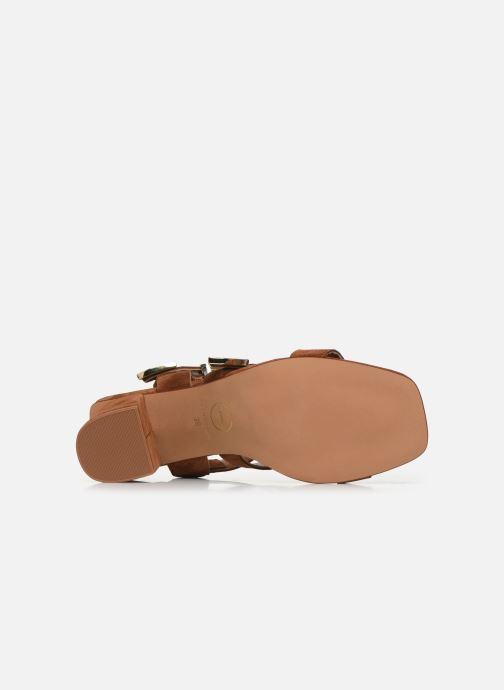 Sandalen Made by SARENZA Summer Folk Sandales à Talons 1 Bruin boven