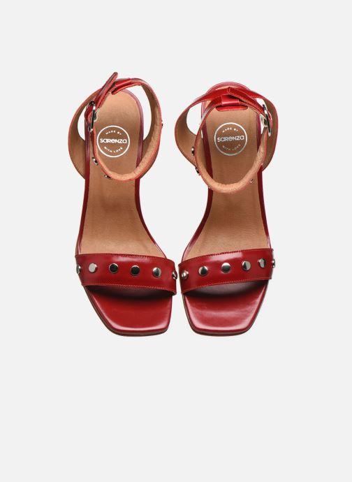 Sandales et nu-pieds Made by SARENZA Summer Folk Sandales à Talons 2 Rouge vue portées chaussures