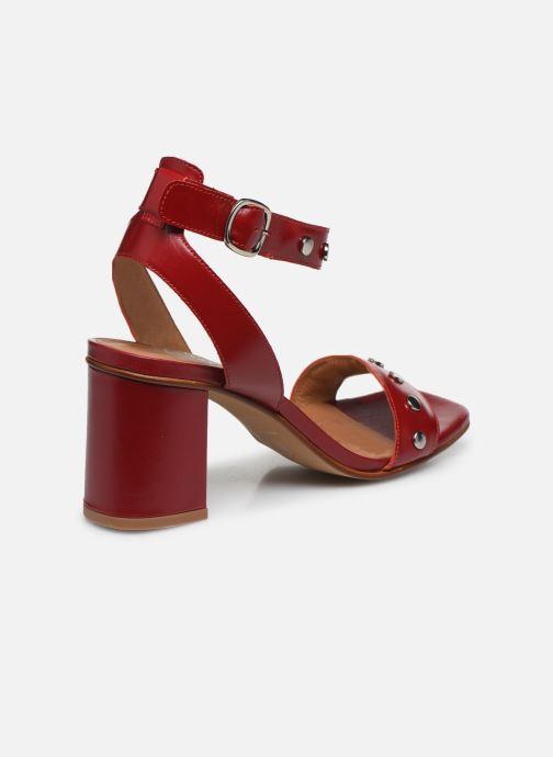 Sandales et nu-pieds Made by SARENZA Summer Folk Sandales à Talons 2 Rouge vue face