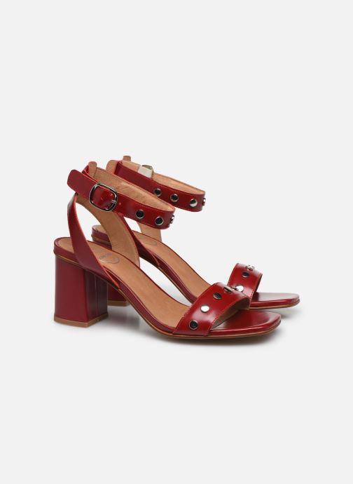 Sandales et nu-pieds Made by SARENZA Summer Folk Sandales à Talons 2 Rouge vue derrière