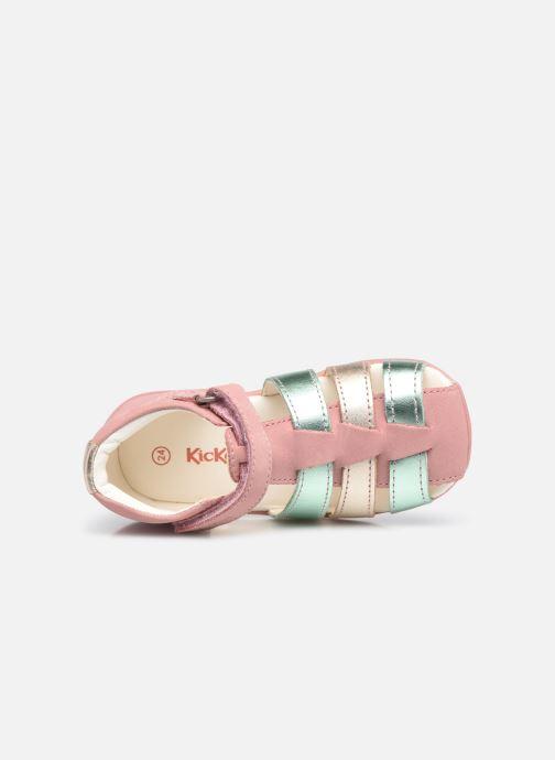 Sandalen Kickers Bigflo-2 rosa ansicht von links