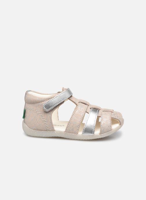 Sandalen Kickers Bigflo-2 silber ansicht von hinten