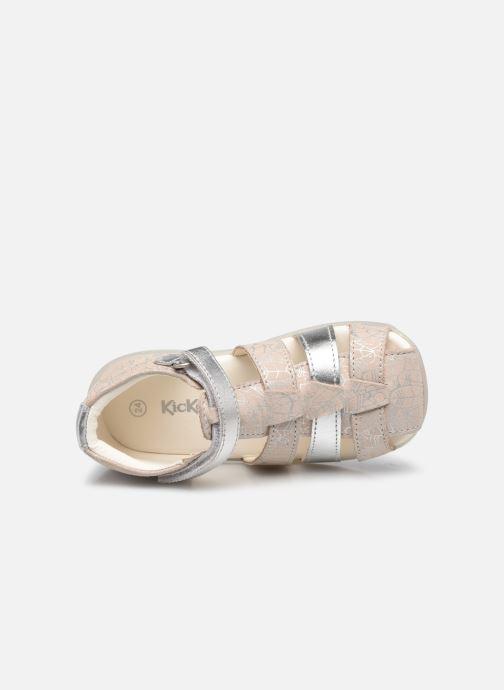 Sandalen Kickers Bigflo-2 silber ansicht von links