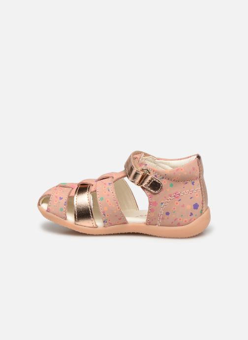 Sandalen Kickers Bigflo-2 rosa ansicht von vorne